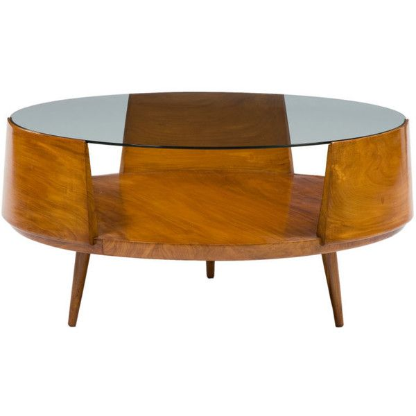 20th Century - Martin Eisler - Round Coffee Table in caviona with glass top by Martin Eisler -m