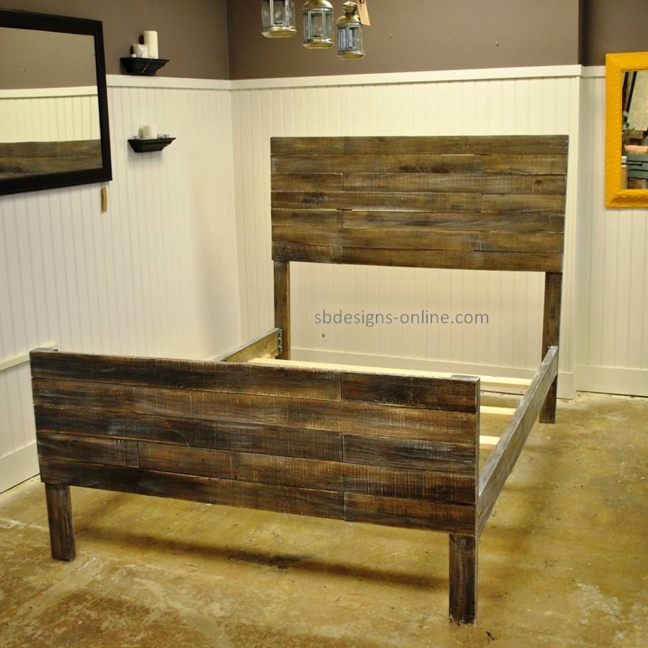 Pallet bed via etsy i 39 m sure this could be made for Price of reclaimed wood