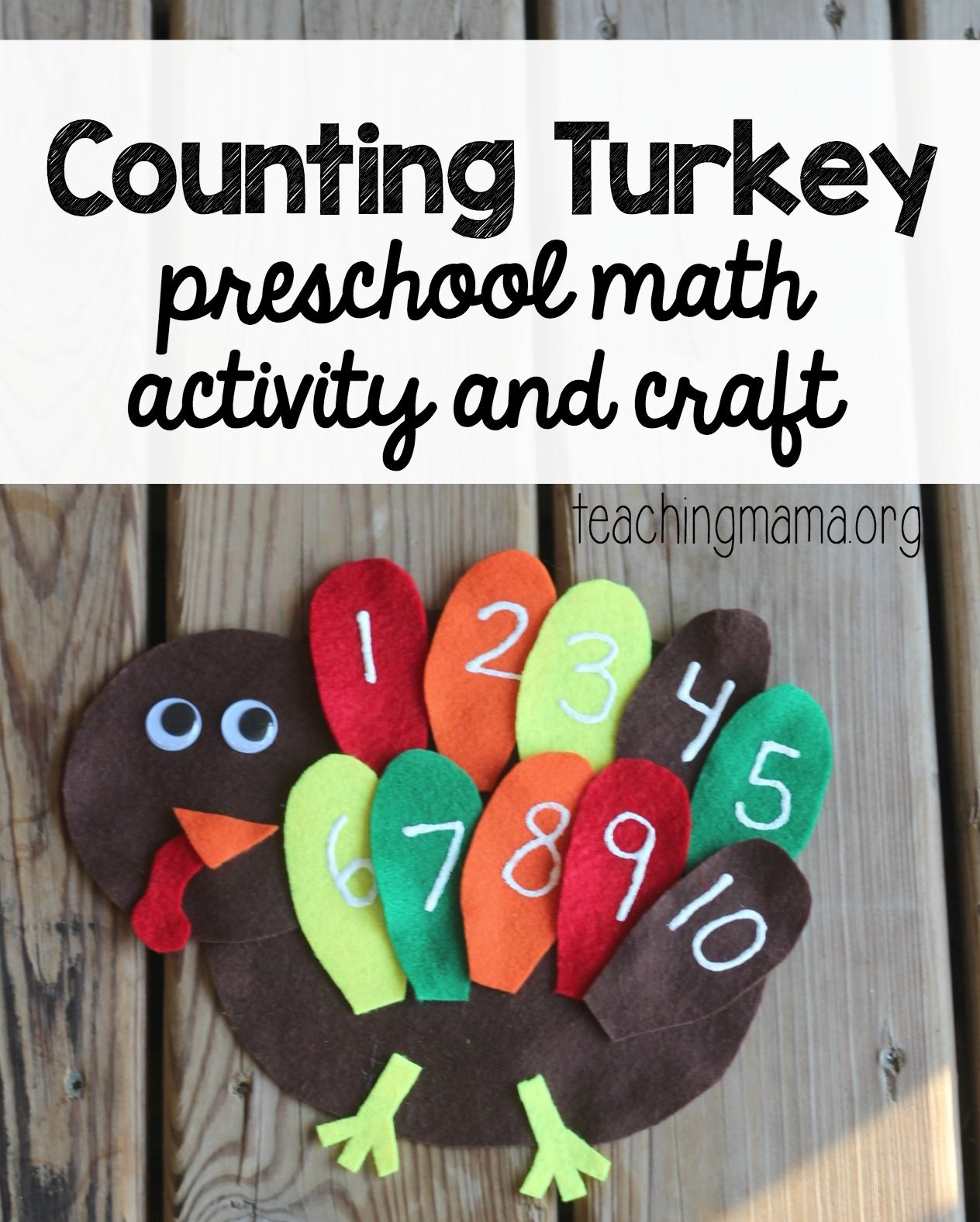 Counting Turkey Activity For Preschoolers