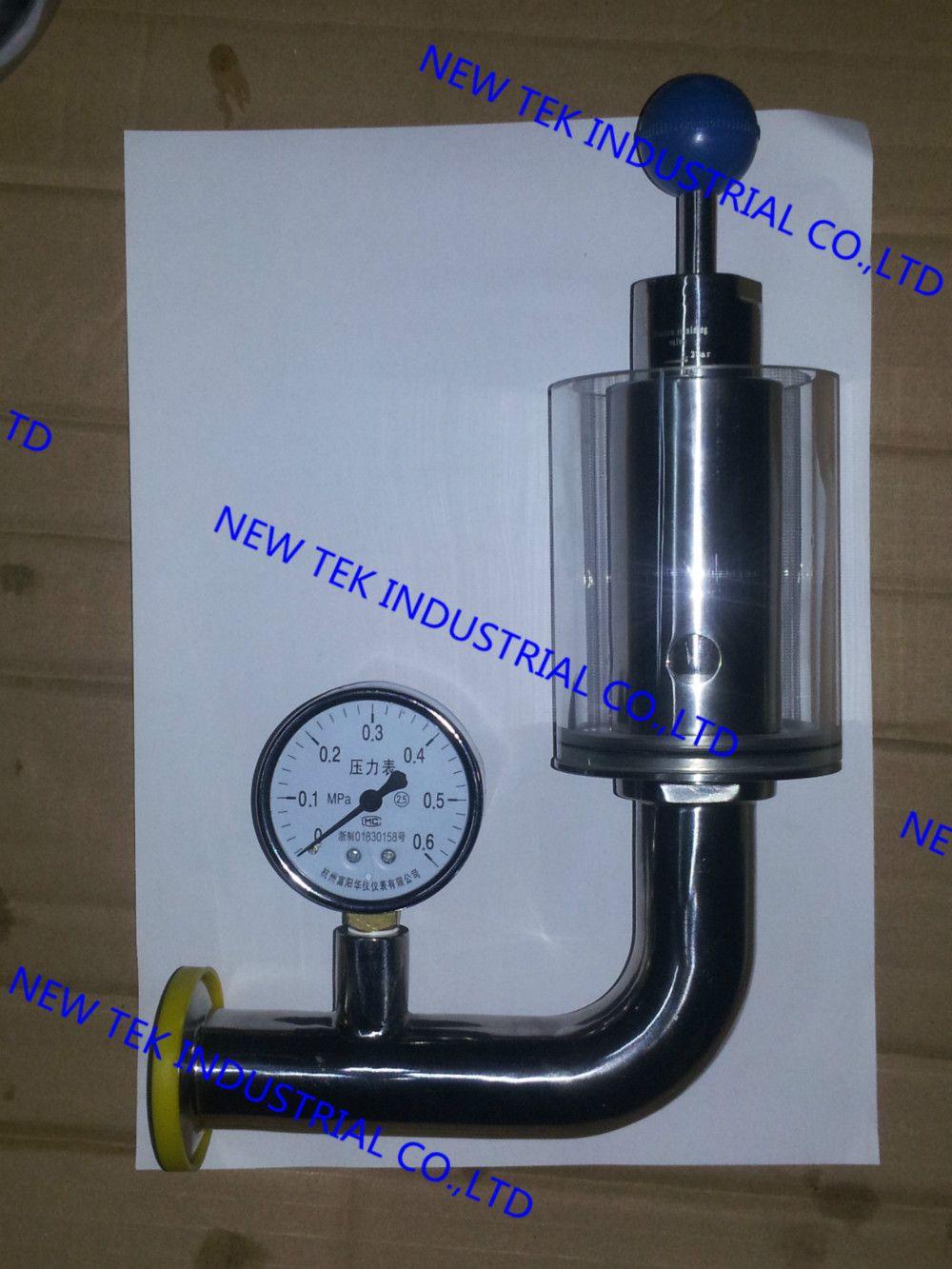 "11/4""x1.5"" triclamp sanitary air release valve w/ pressure"