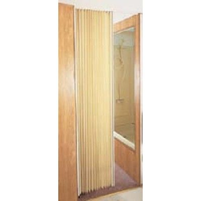 White Rv Fabric Folding Door 72 X 75 Heavy Duty Stain Resistant