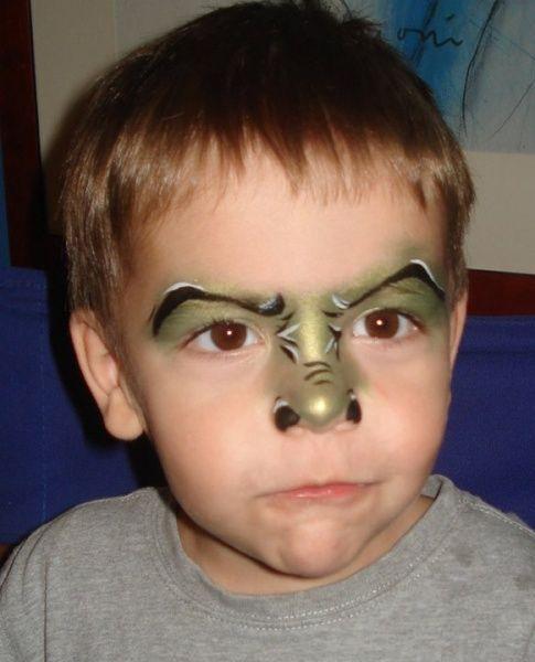 Face Painting Halloween Dinosaur