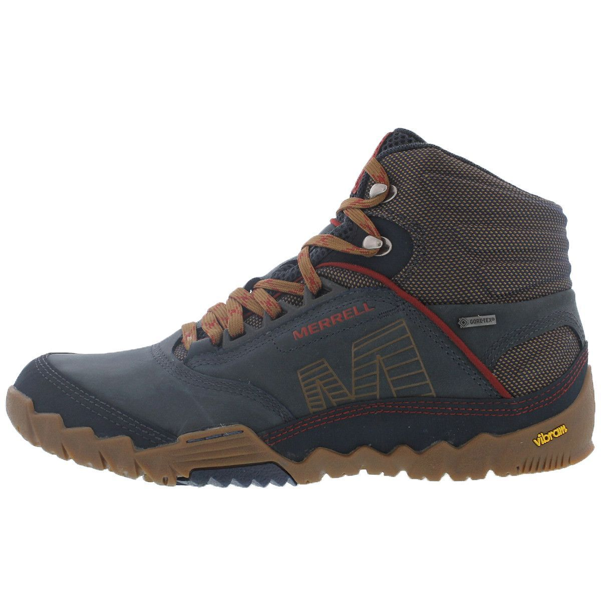 cf997210b1e521 Leather upper in blue wing - Merrell Strafuse upper provides a precise,  glove like