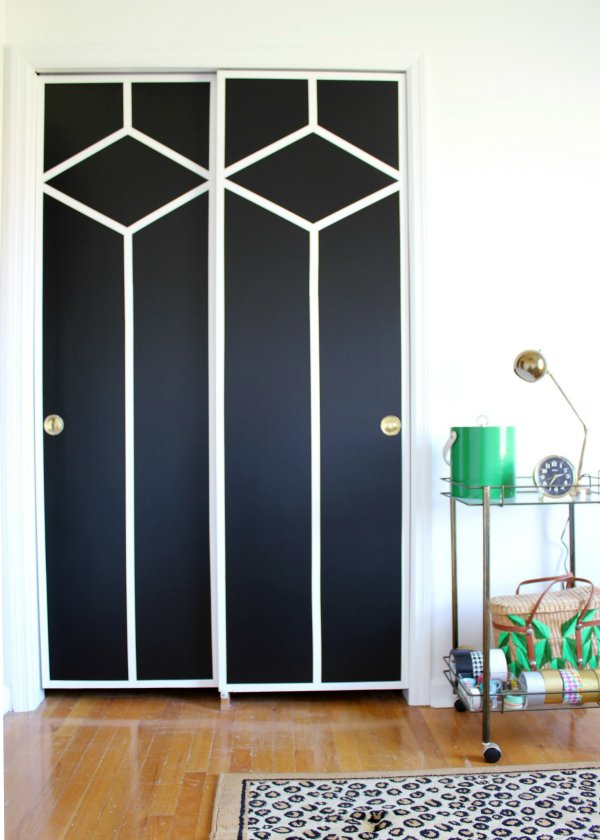 Diy Painted And Patterned Doors Doors Decor Interior Design And