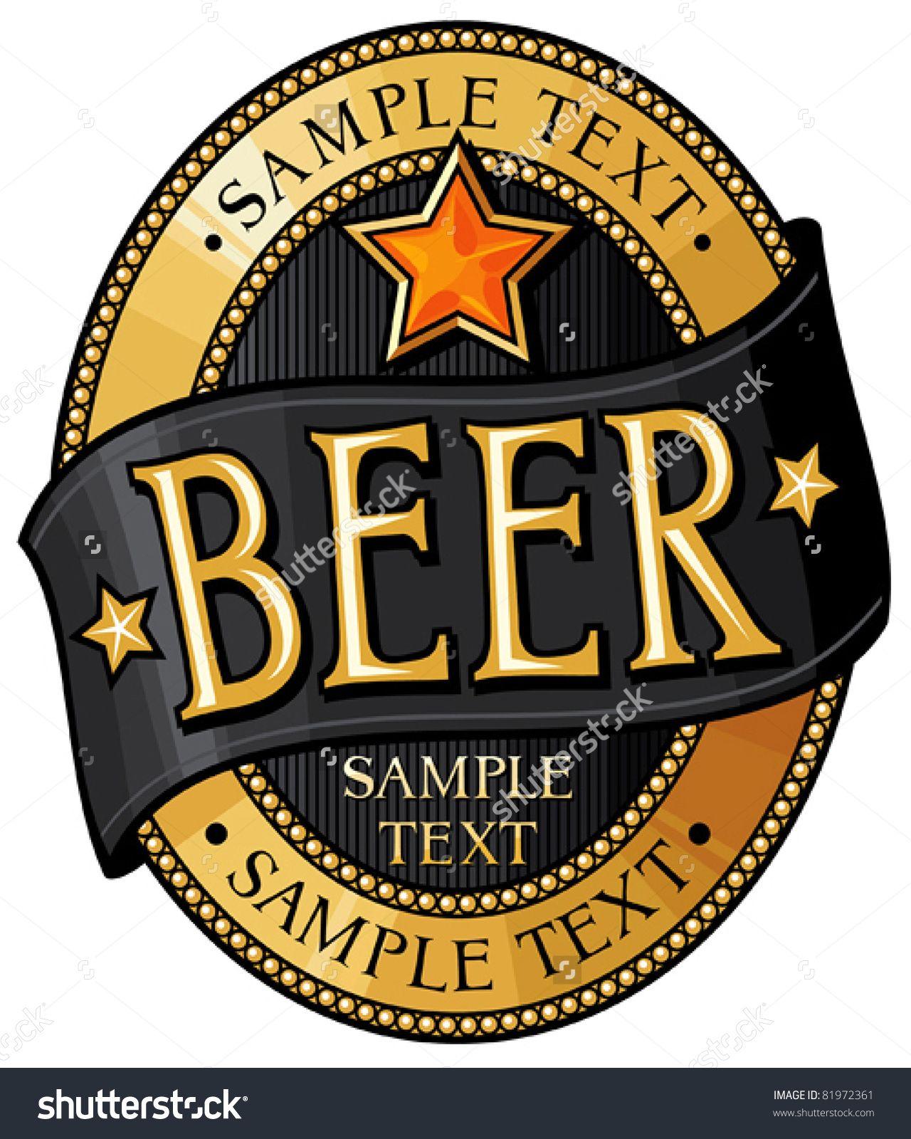 stock-vector-beer-label-design-81972361.jpg (1280×1600) | BEER ...