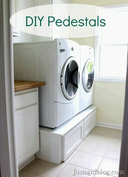 Build Your Own Laundry Pedestal Organization Pinterest