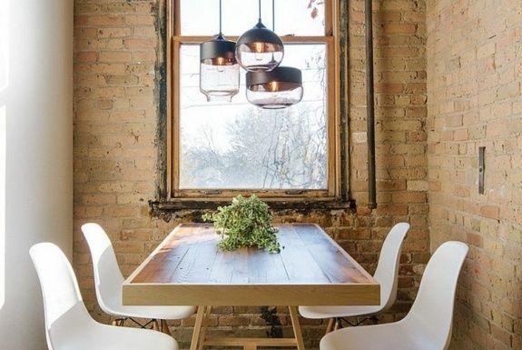 Chaise de salle à manger en style industriel ? CHANDELIERS - lustre pour salle a manger