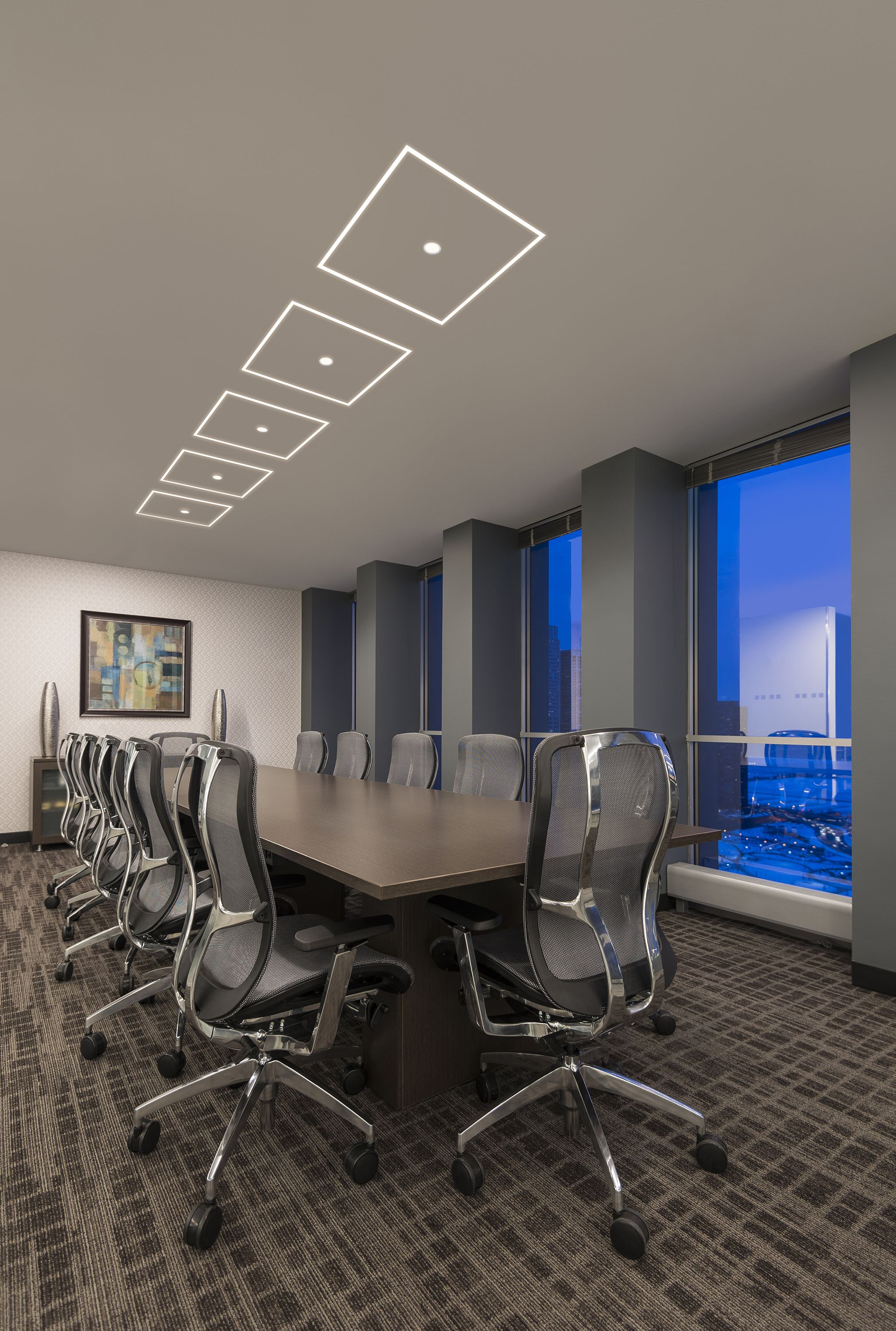 Conference Room Lighting Design: Office Conference Room LED Lighting Idea