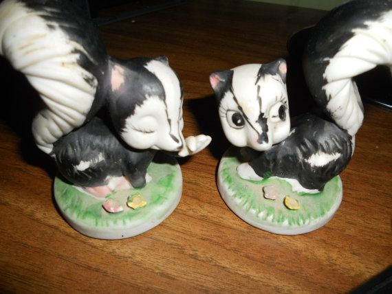 Collectible Knick Knacks | ... skunks home interior collectible figurines decor knick knack on Etsy