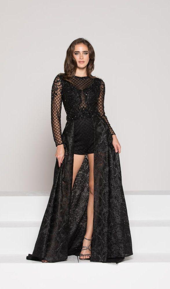 romper prom dress with detachable skirt