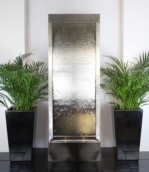Stainless Steel Water Wall Cascade Fountain Feature Indoor Water Walls Water Feature Wall Indoor Water Fountains