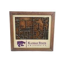 Kansas State Wildcats Wood K State Campus Map Sign 2006863 Ksu