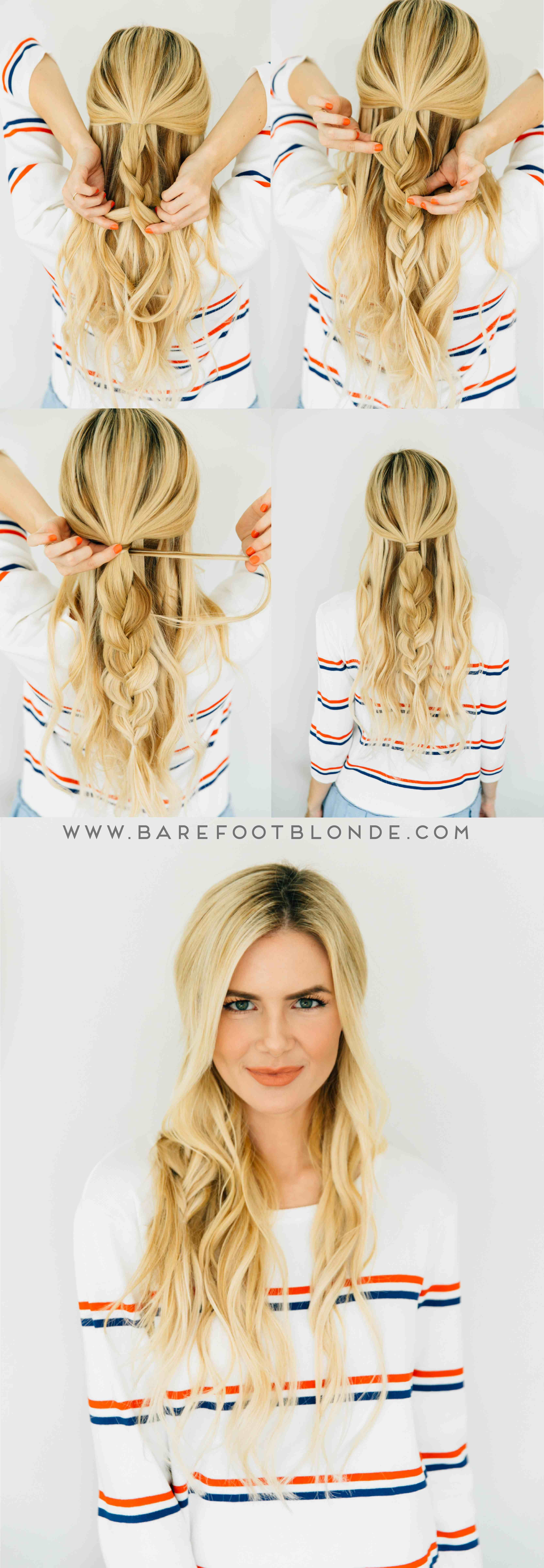 Three easy hairstyles three minutes each fab hairstyles