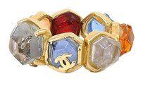 Chanel Chanel Vintage Multi Colore Gripoix Ring #6