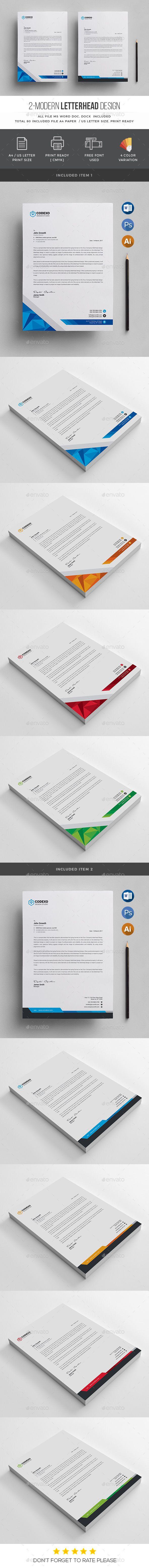 Modern letterhead letterhead template ai illustrator and template modern letterhead spiritdancerdesigns Image collections