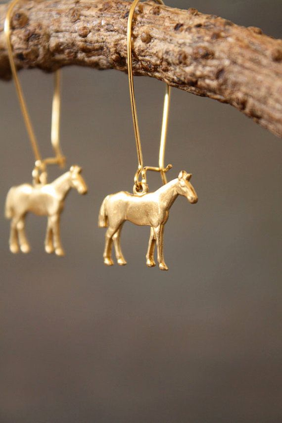 Hot to Trot Equestrian Horse Earrings by ChristineDomanic on Etsy, $16.00