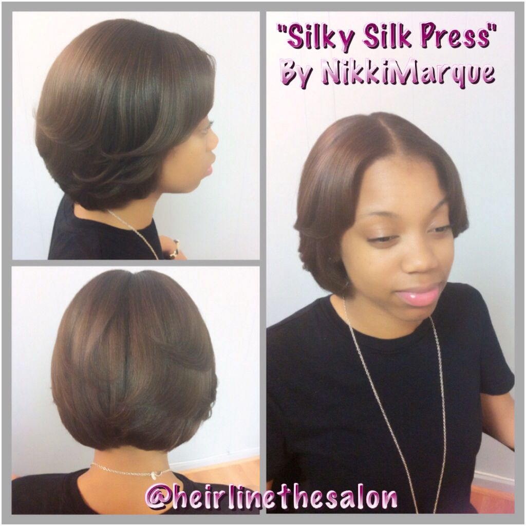 Silk Press By Nikki Marque This Style Was Shampooed W A Sulfate Free Shampoo And Treate Straightening Natural Hair Pressed Natural Hair Natural Hair Styles