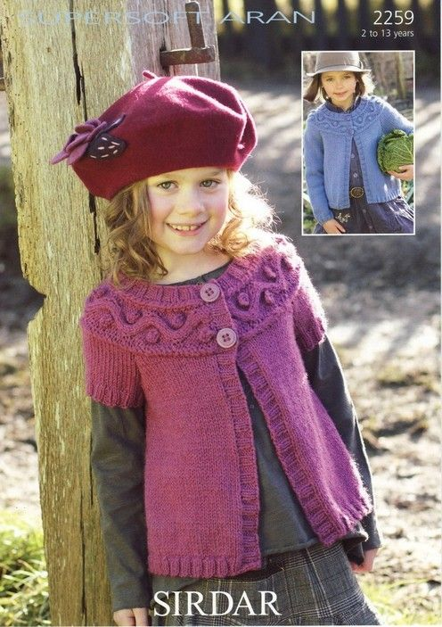 Sirdar--Cardigan (2 to 13 years) | Knit and Crochet | Pinterest ...
