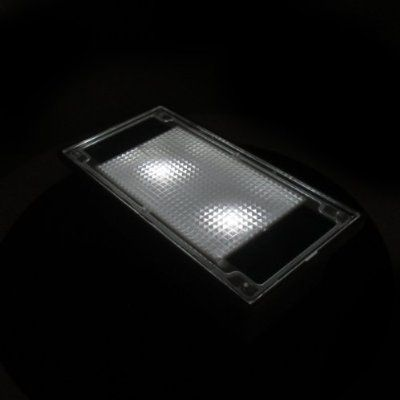 Solar 2 White LED Outdoor Garden Pathway Paver Brick Light