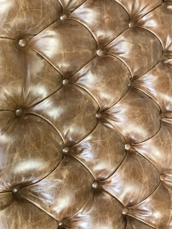 Custom 48 X 36 Distressed Leather Tufted Ottoman Custom Made Furniture Custom Made Furniture Tufted Ottoman Furniture Making