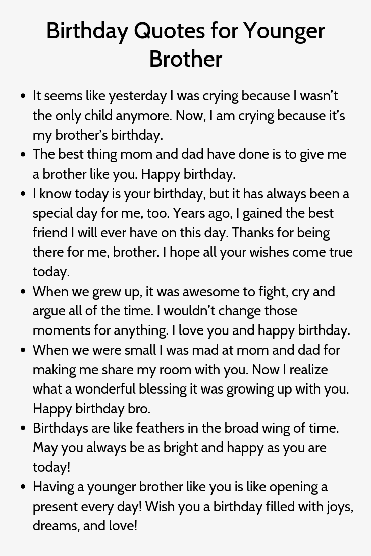 Birthday Quotes For Younger Brother Brother Birthday Quotes Brother Quotes Birthday Caption For Brother