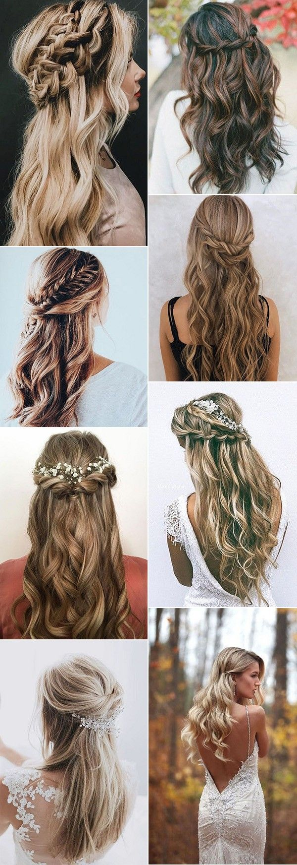 top 20 half up half down wedding hairstyles for 2018/2019