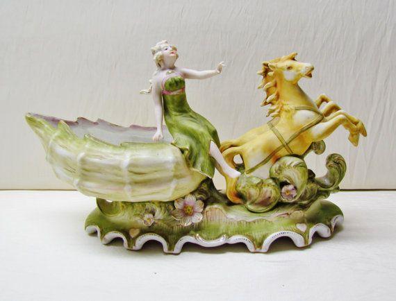 Handmade Porcelain and Sea Shell Sculpture