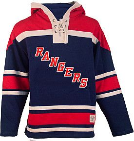 half off 76afb d6726 Old Time Hockey New York Rangers Lace Jersey Fleece Hoodie - Shop.NHL.com