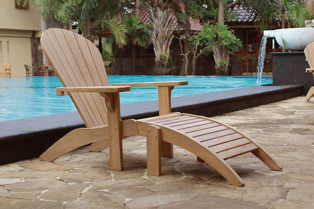 Douglas nance seacoast adirondack chair wood patio teak