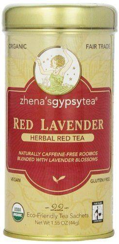 ZHENA'S GYPSY TEA TEA,OG2,RED LAVENDER, 22 BAG ** Visit the image link more details.