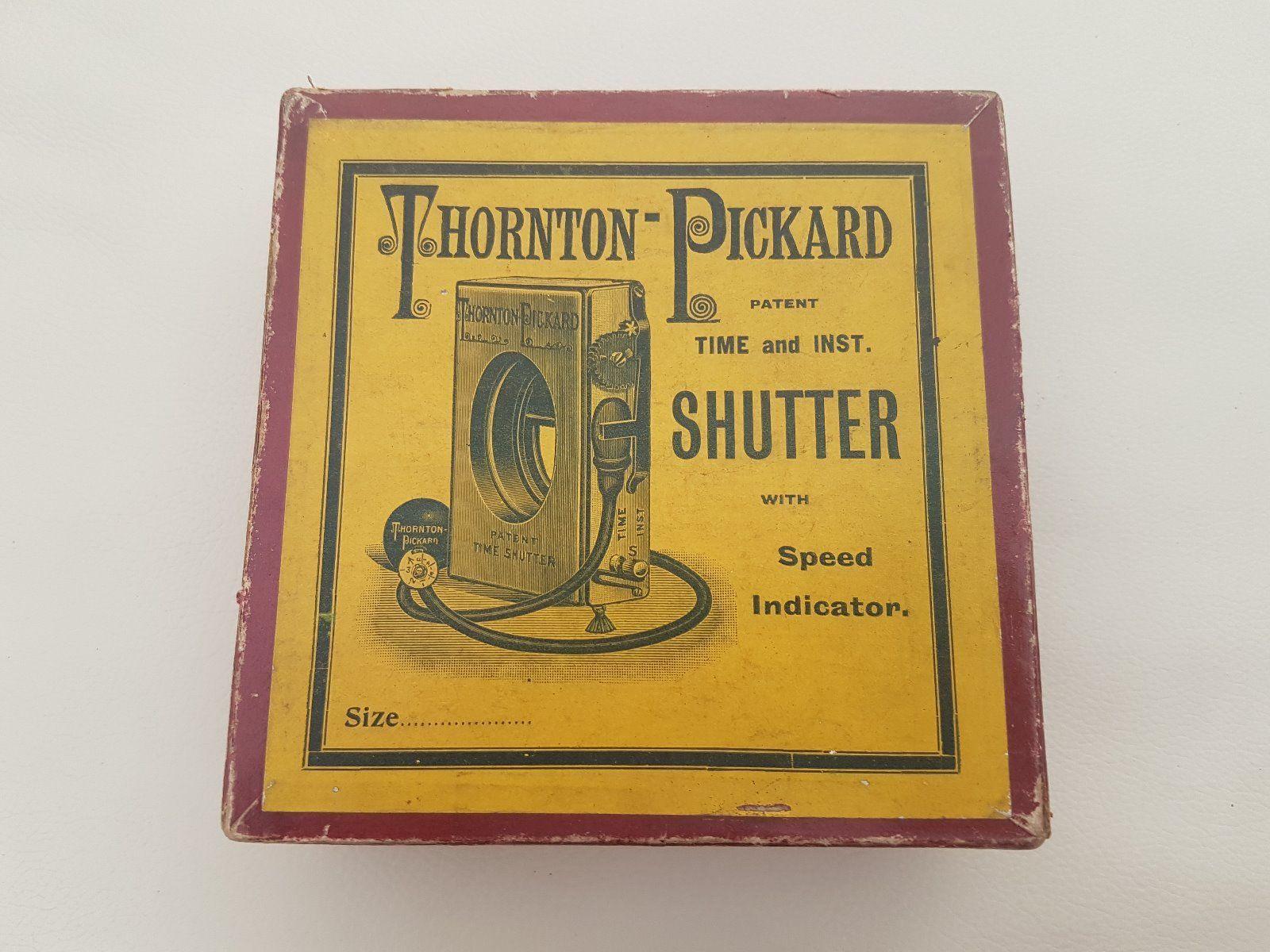 "Thornton-Pickard Patent ""Time & Inst."" Shutter. Original Box."