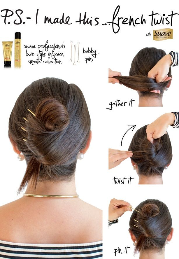Easy French Twist Hairstyle Tutorial Sole Tutorials Hairstyles
