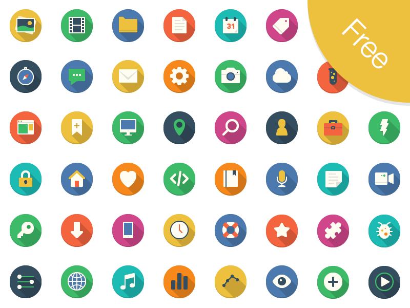 Filo Icon Set Sketch Free icon set, Icon set, Flat