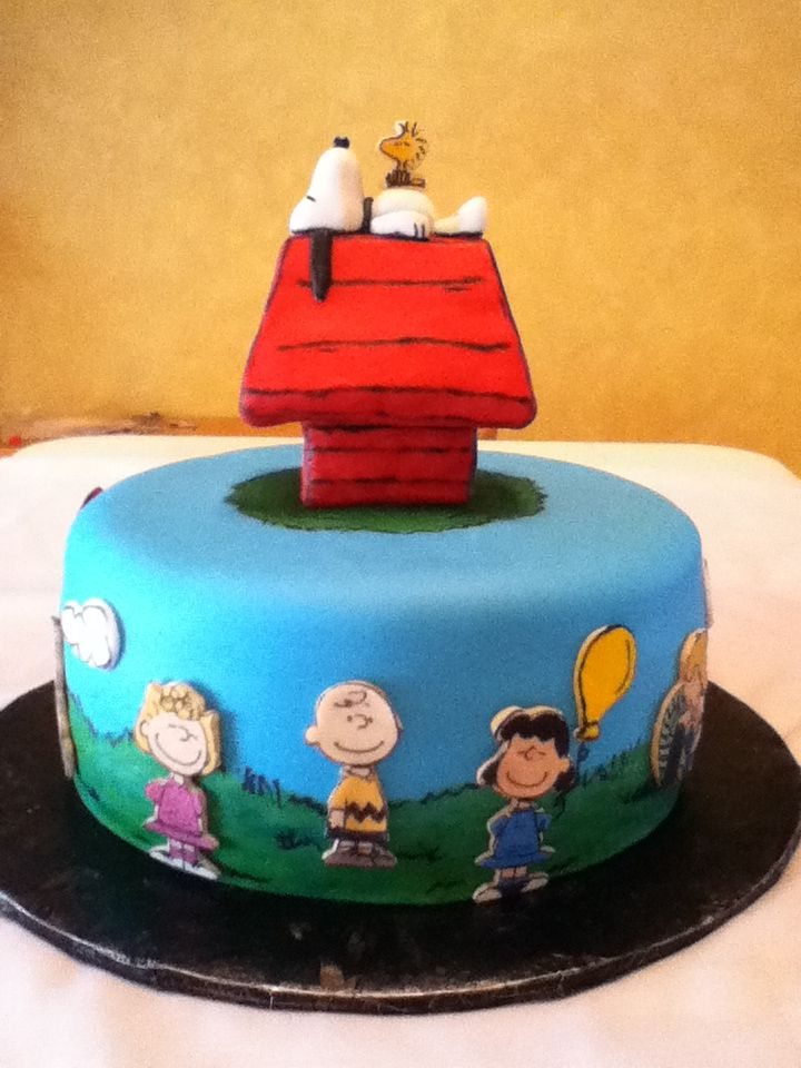 Here Is A Peanutscharlie Brown Birthday Cake Description From
