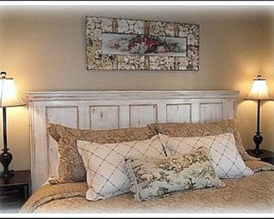 wonderful white wood headboard