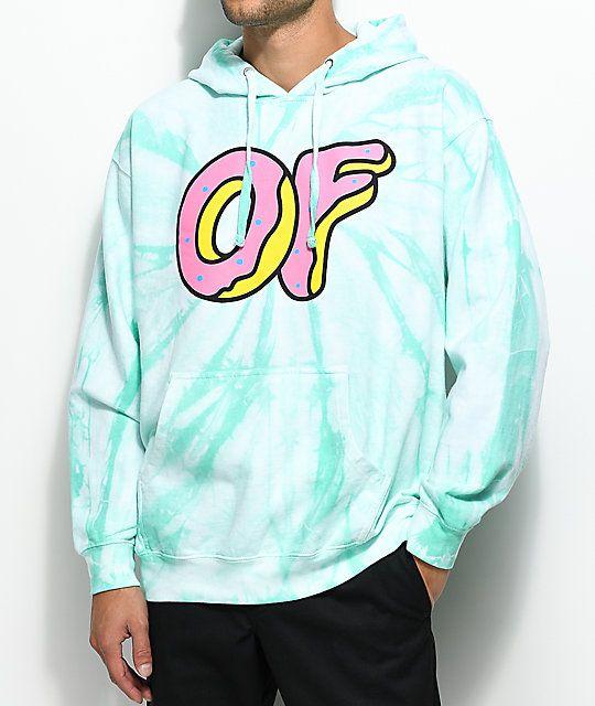 99e270e5b19777 Odd Future Logo Aqua Tie Dye Hoodie in 2019