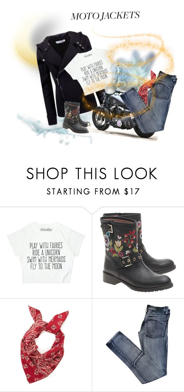 """""""For @idocoffee"""" by thaliatria ❤ liked on Polyvore featuring LE3NO, RED Valentino, Harley-Davidson and Cheap Monday"""