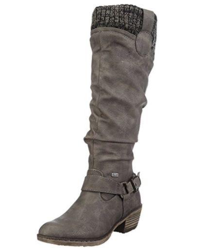 Gris outfit botas amazonmoda Alta mujer moda calzado Bota Caña BaOdAwwq