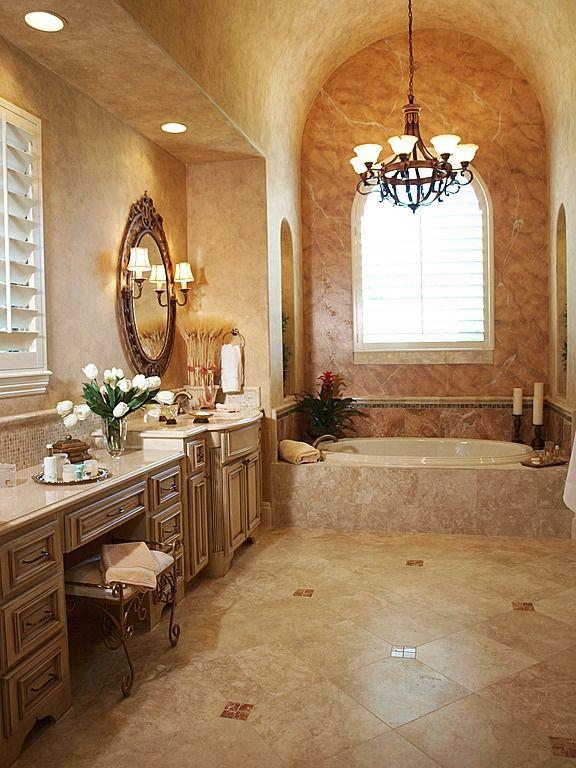 Great Traditional Master Bathroom With Stone Tile By Interior Decisions Inc