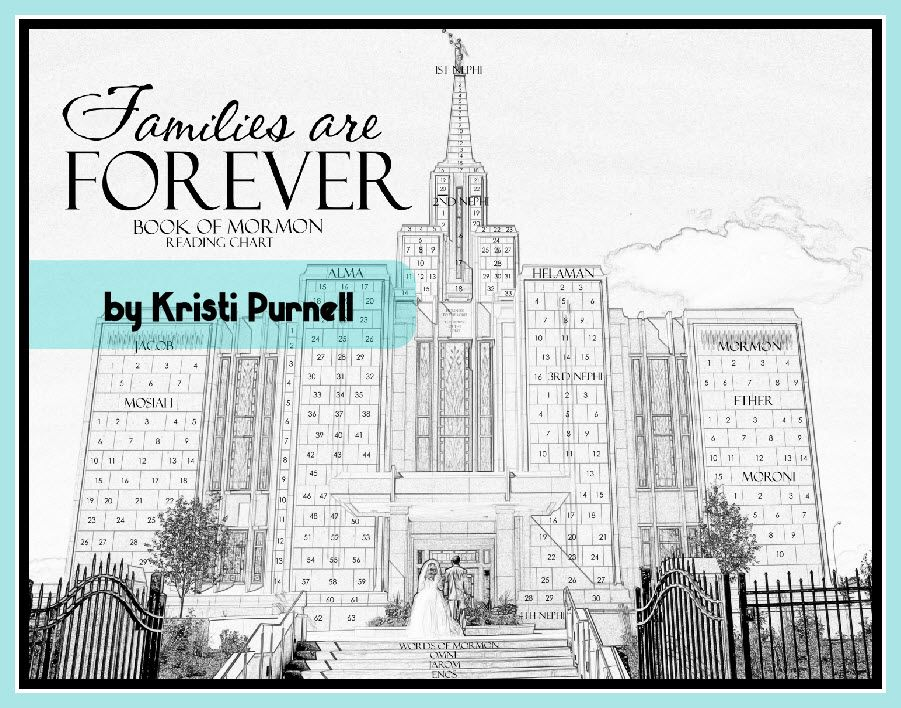 Families are Forever Temple Book of Mormon Chart for 2014 primary - new coloring pages book of mormon