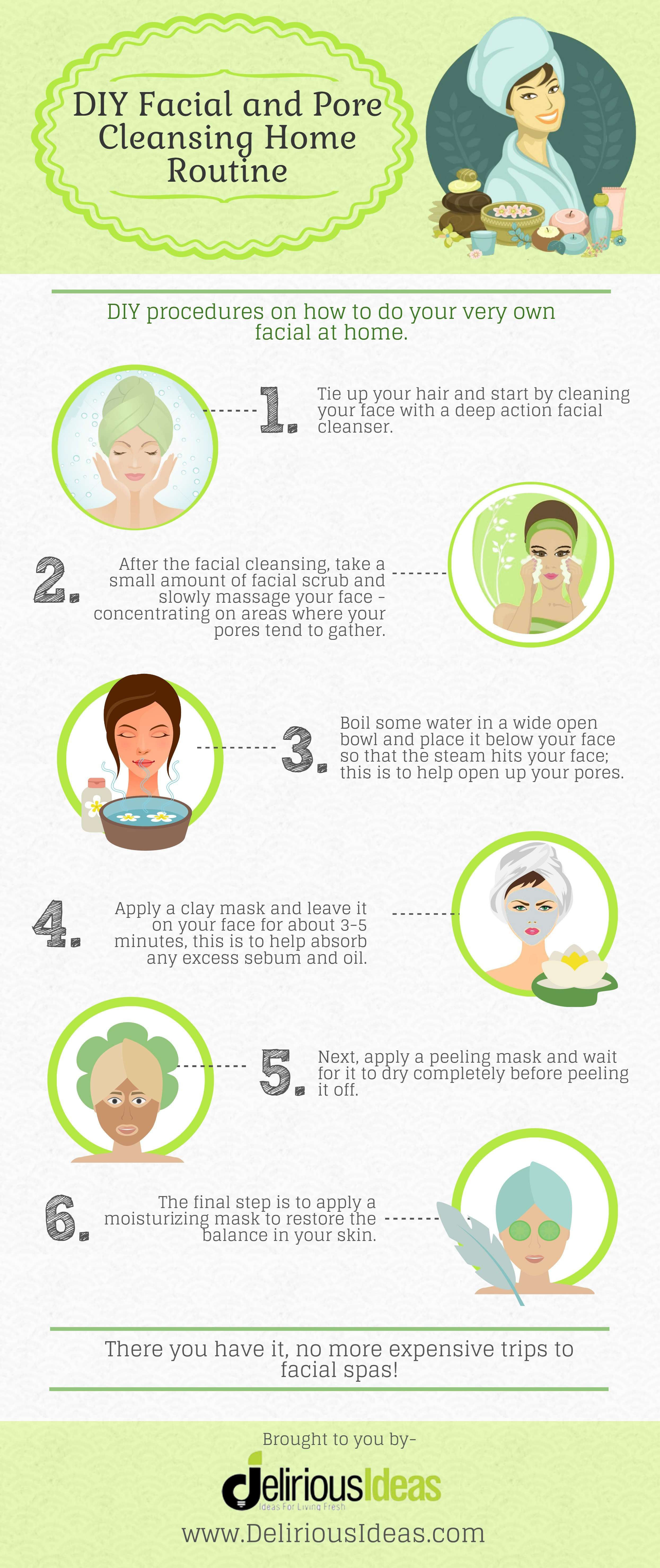 facial routine at home