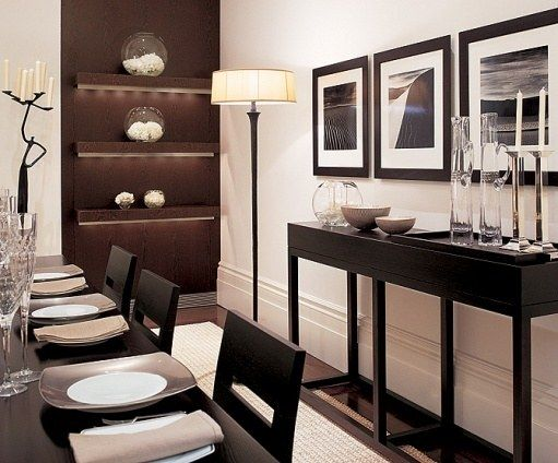 The Dining Room Is Very Linear And Quite Oriental Notes Designer