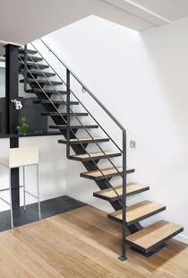 Escalier tubulaire. Inspiration entrée. | stairs | Pinterest