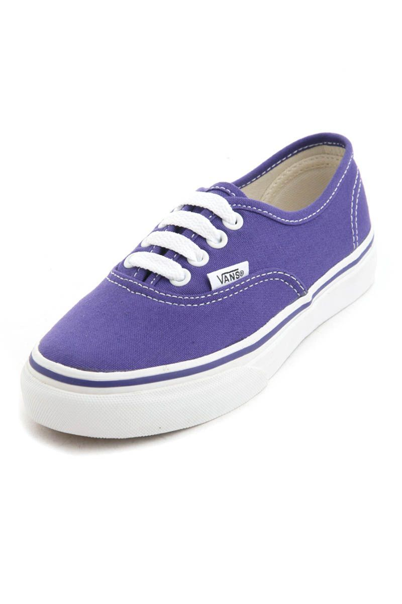Canvas Authentic Kids Sneakers (Purple Iris/True White) from Vans Kids  Shoes on