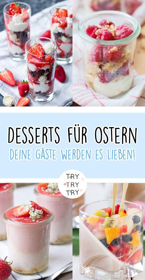 Osterdessert / Dessert für Ostern / Nachtisch für Ostern / Schichtdessert / Sc… – Rezepte: Desserts  |  Allgemein