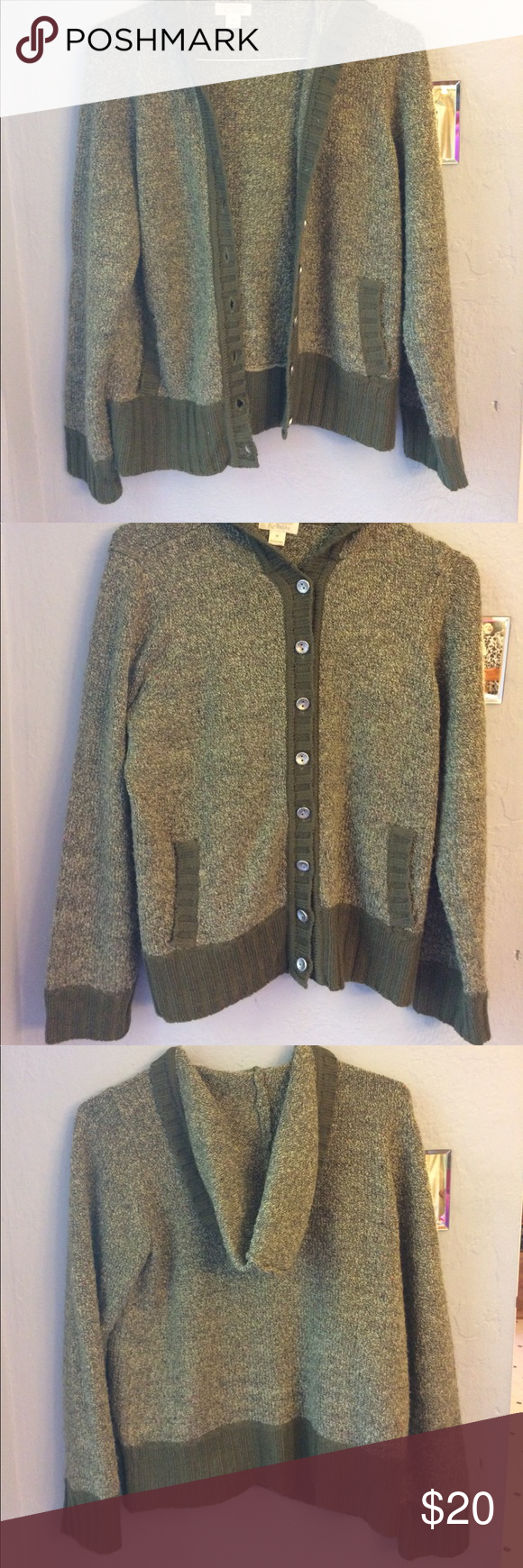 Olive Green Hooded Sweater | Coats, Warm and Olives