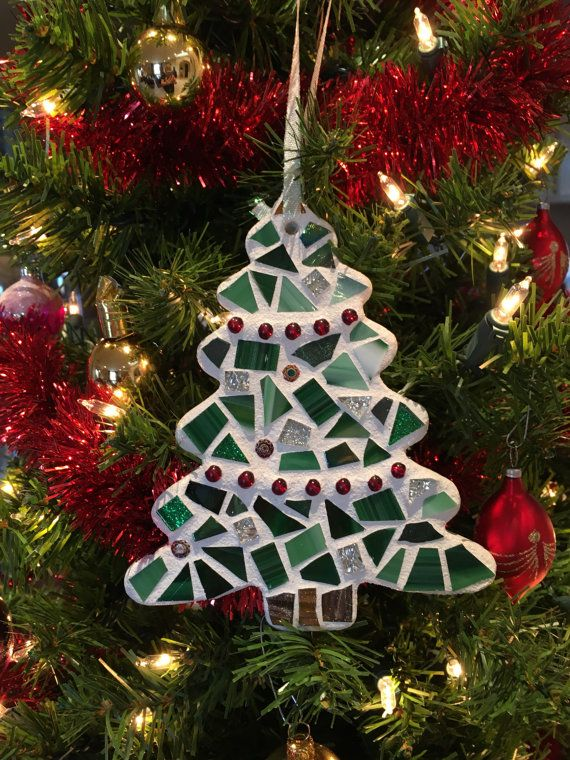 Christmas Tree, Stained Glass Mosaic Christmas Tree, Christmas Tree
