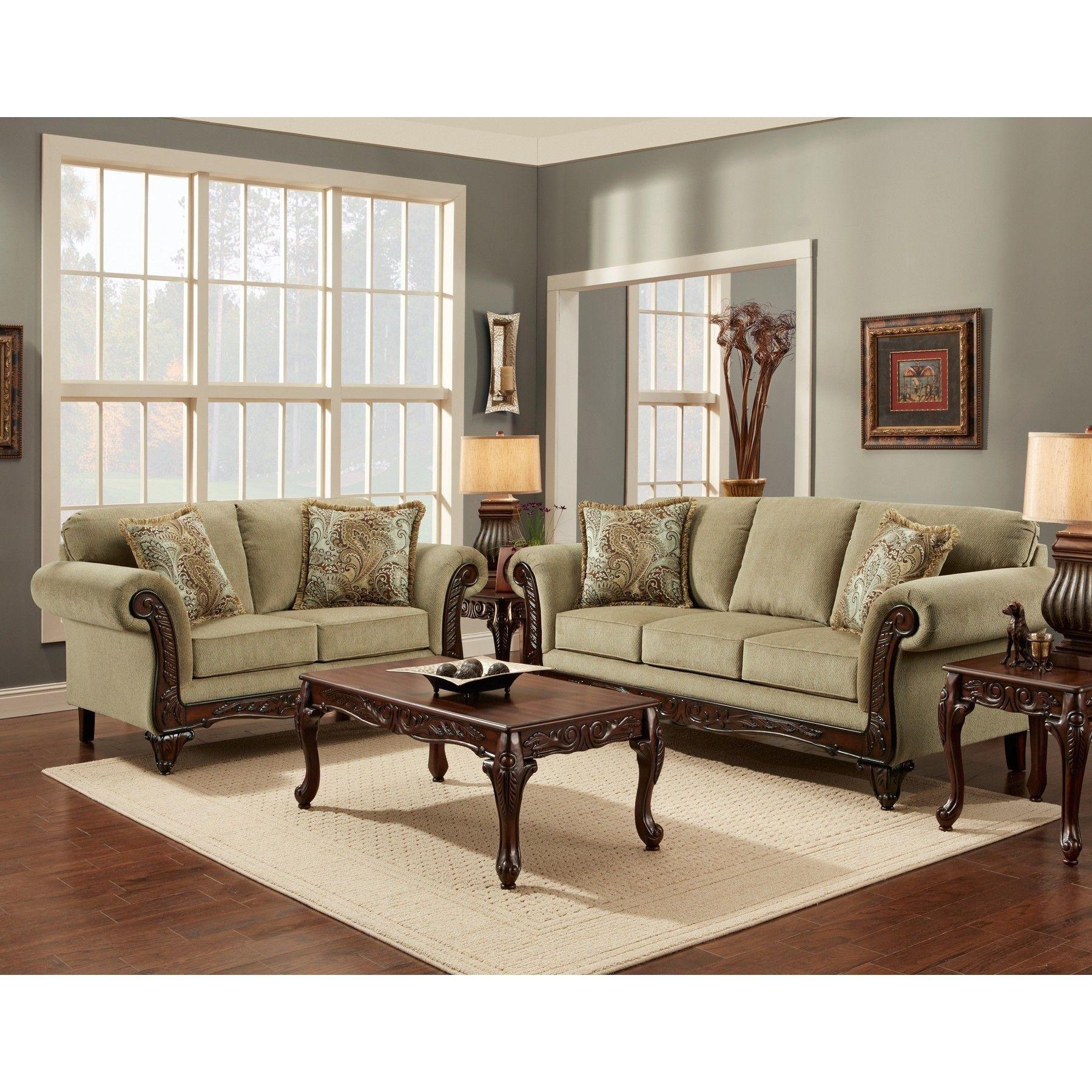 Sofa Trendz Chasity Platinum 5 Piece Living Room Sofa Set