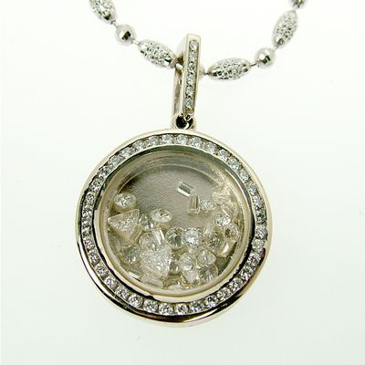 Floating diamond frame pendant jewelry pinterest diamond custom jewelry design gallery mozeypictures Gallery