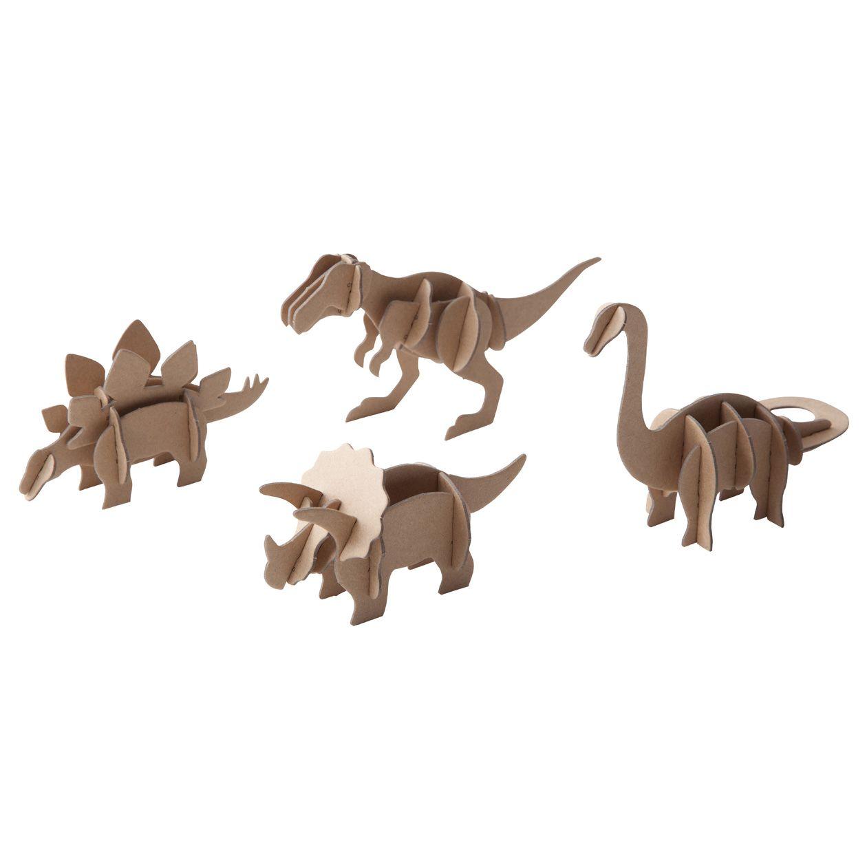 Press Out Dinosauri Muji Dinosaur Template Dinosaur